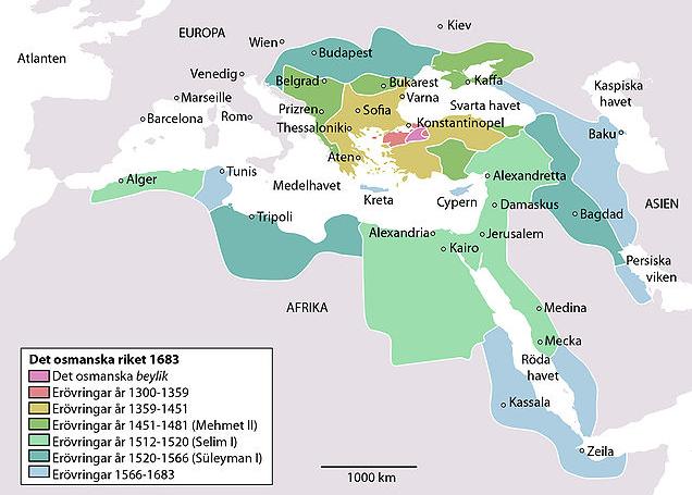 Osmanska riket karta